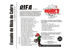 rifa escuela de bicis cartel